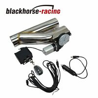 """2.5"""" Electric Exhaust Downpipe Cutout E-Cut Out Valve CONTROLLER REMOTE KIT NEW"""