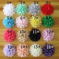 50pcs Chiffon Silk Flowers For Girls Hair Accessories Soft Petal Peony Headband