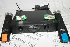 STAGELINE TXS-812SET UHF TWIN mano Radio Microfono Sistema. lisence libero