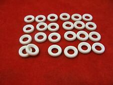 Small Smooth Tires for Dinky Toys, white, 15mm, Lot of 24