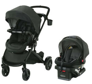 Graco Baby Modes2Grow Bassinet Travel System Stroller w/ Infant Car Seat Tambi