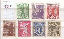 COLLEZIONE GERMANIA OCCUPAZIONI 1945 SBZ STADT BERLIN SET