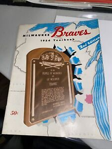 2nd Edition 1954 Milwaukee Braves Yearbook Hank Aaron RC Year Warren Spahn 7481