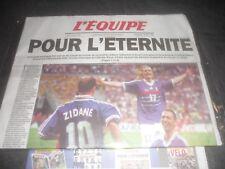 """JOURNAL L'EQUIPE 13 JUILLET 1998 """"POUR L'ÉTERNITÉ""""+2 MAGAZINES NEUF SS BLISTER 6"""
