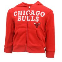 Chicago Bulls Kids & Youth Size Official NBA Adidas Full Zip Sweatshirt New Tags