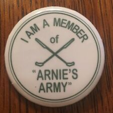Arnold Palmer Arnie's Army Button Pin Golf Majors USGA PGA