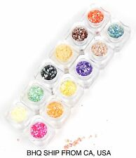 12 COLORS CRUSHED SHELL NAIL ART DECORATION DESIGN