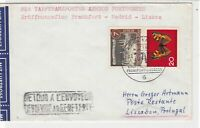 Germany 1963 Special Slogan Cancel Airmail to Portugal Stamps Cover ref 22736