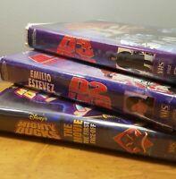 Mighty Ducks 1 2 3 VHS VCR Disney D2 D3 Emilio Estevez Ice Hockey 1990s