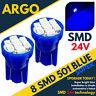 Luz Azul Hielo 24v sin Tapa Lateral 501 W5w Led SMD T10 Mazo Bombillas Hgv