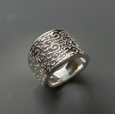 Sterling silver Filigree wide  Ring by Lepos Jewellery