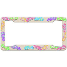 Beach Tropical Flip Flop Pattern License Plate Frame