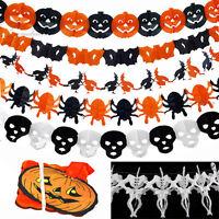 Halloween Papier Pattern De Crâne Squelette Fantôme Déco Guirlande Squelette