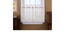 CHF & You Sidney Grommet Window Tiers 60 x 36 Ivory