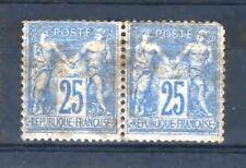 """FRANCE STAMP TIMBRE N° 79 """" TYPE SAGE 25c BLEU EN PAIRE """" NEUF A VOIR R405"""