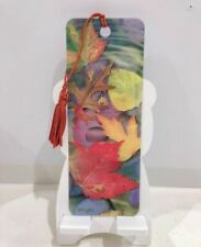 3D Book Marks with Colorful Matching Tassel Made in USA Autumn Leaves