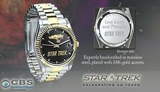 NEW Star Trek USS ENTERPRISE NCC-1701 Collectible Watch ~ Bradford Exchange