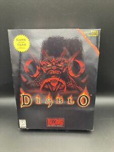 Diablo PC CD Big Box Game Blizzard 1998 Authentic Sticker seal Game Of The Year