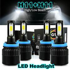 JDM ASTAR 4x LED Headlight Bulbs H11+H11 Combo 18000LM High Low Beam Fog  Lights