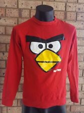ANGRY BIRDS Long Sleeve Sweater size S Pullover Red