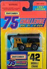 Matchbox MB42 Mobile Crane Gold Challenge 1997 Mint On Card