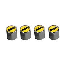 4 Pcs Car Wheel Tire Valve Stem Air Dust Batman Anti Theft Locking Caps Cover mh