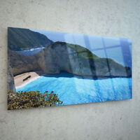 Canvas Prints Wall Art on Fade Proof Glass Photo ANY SIZE Navagio Beach p169905