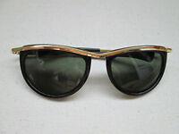 1 goldfarbene Sonnenbrille Retro Brille Nerdbrille 50s 60s Vintage Neu  50 60 2