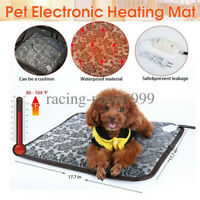 Pet Heating Pad Cat Dog Heated Bed Waterproof Mat Electric Chew Resis Steel Cord
