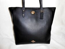 COACH BLACK PEBBLED LEATHER LARGE TOWN TOTE/SHOULDER BAG, NEW WITH TAGS!*