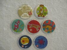 Jack in the Box Blaster & 6 Jack in the Box Pogs Milkcaps Slammers Bottle Caps
