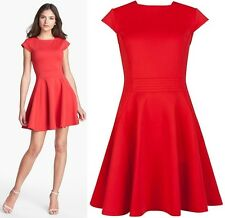 """TED BAKER RED """"TEZZ SKATER PARTY WEDDING OCCASION DRESS BNWT UK14/ 4  RRP £129"""
