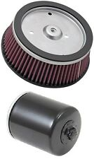 K&N Motorcycle Air Filter + Oil Filter Combo HD-0800 + KN-171B