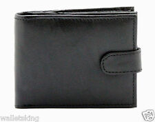 Gents Real Leather Wallet Credit Card Holder With Zip Coin Pocket & ID Window 42