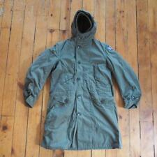 Vintage WWII World 2 Army Green Combat Cold Weather Parka w/ Alaska Patch