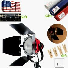Us/ 800W Photo Studio Continuous Red Head Light Barn Door Video Lighting w/ Bulb