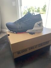 Under Armour UA Men's Project Rock 2 Training Shoes Pitch Gray Size 10.5 🔥