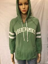 Abercrombie & Fitch- Green LS Hoody w/ white stripes on sleeves- Size XL