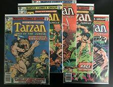 Tarzan Lot of 5 Comics - #1 3 4 6 12 Marvel Comics 1977 - FN- to VF