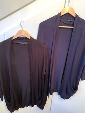 Womens Primark Long Cardigan Size 8 Navy And Black