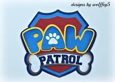 CRAFTECAFE PAW PATROL TITLE paper piecing scrapbook premade page diecut piece 3D