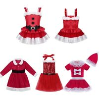 Kid Baby Girls Christmas Santa Claus Costume Faux Fur Princess Tutu Dress Outfit