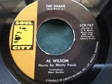 Original Press Northern Soul 45 : Al Wilson ~ The Snake ~ Soul City SCR 767