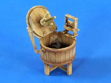Verlinden 1/35 Wooden Washing Tub / Machine from WWII Era (Open or Closed) 2680