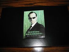 Vintage - MATRIX RELOADED - AGENT SMITH Pinback Button!! 2003