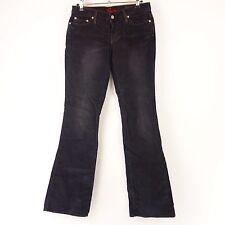 bleu culte velours pantalon W 27 noir Faded NP 229 NEUF