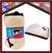 Memory Foam Pet Bed Dog Puppy new brown cream with bone Design