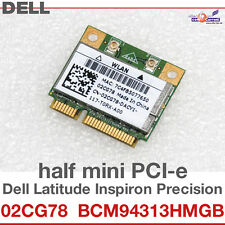Wi-Fi WLAN WIRELESS CARD scheda di rete DELL MINI PCI-E 02CG78 BCM94313HMGB D42