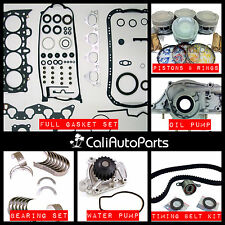 92-95 Honda Civic EX Del Sol Si V-Tec 1.6 SOHC D16Z6 Engine Rebuild Kit Overhaul