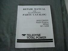 WISCONSIN  ROBIN  ENGINE W1-145B  REPAIR & PARTS MANUAL BRAND NEW